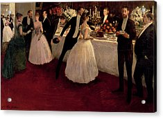 The Buffet Acrylic Print by Jean Louis Forain