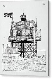 The Bug Lighthouse Acrylic Print by Ira Shander