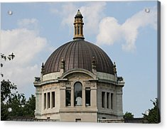 Acrylic Print featuring the photograph The Building  by Paul SEQUENCE Ferguson             sequence dot net