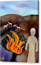 The Burning Bush Acrylic Print by Sher Magins