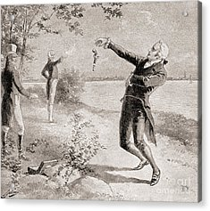 The Burr Hamilton Duel Acrylic Print by Henry Alexander Ogden
