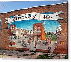 The Bussy Mural Acrylic Print by Todd Spaur