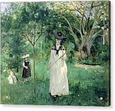 The Butterfly Hunt Acrylic Print by Berthe Morisot