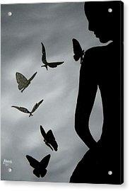 The Butterfly Men Acrylic Print by Edwin Alverio