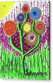 The Button Ball Tree Acrylic Print