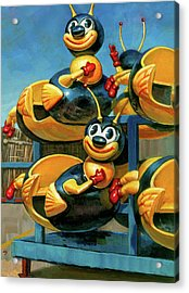 Acrylic Print featuring the painting The Buzz by Lesley Spanos