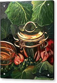 The Cabbage Pot Acrylic Print by Patricia Reed