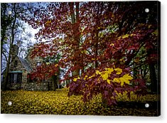 The Cabin In Autumn Acrylic Print