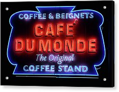 The Cafe Du Monde Acrylic Print by JC Findley