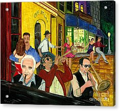 Acrylic Print featuring the painting The Cafe by Gail Finn
