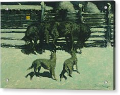 The Call For Help Acrylic Print by Frederic Remington