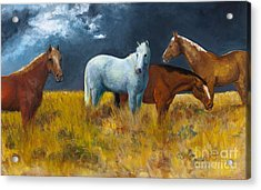 The Calm After The Storm Acrylic Print by Frances Marino