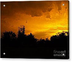 The Calm Before The Storm Acrylic Print by Gail Finger