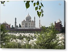 The Calm Behind The Taj Mahal Acrylic Print