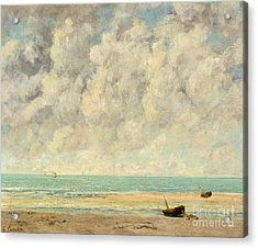 The Calm Sea, 1869  Acrylic Print by Gustave Courbet