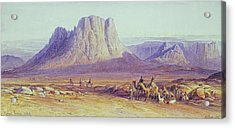 The Camel Train Acrylic Print by Edward Lear