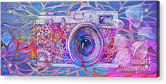 Acrylic Print featuring the digital art The Camera - 02c3t by Variance Collections