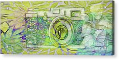 Acrylic Print featuring the digital art The Camera - 02c5bt by Variance Collections