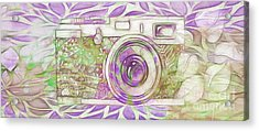 Acrylic Print featuring the digital art The Camera - 02c6 by Variance Collections