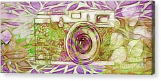 Acrylic Print featuring the digital art The Camera - 02c6t by Variance Collections