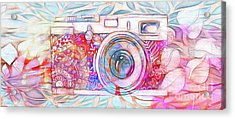 Acrylic Print featuring the digital art The Camera - 02c8v2 by Variance Collections
