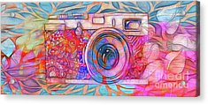 Acrylic Print featuring the digital art The Camera - 02v2 by Variance Collections