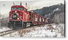 The Canadian Pacific Holiday Train Acrylic Print