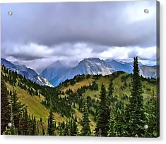 The Canadian Rockies Acrylic Print by Brent Sisson