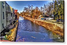 The Canal At New Hope In Winter Acrylic Print
