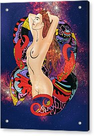 The Cancer Woman Acrylic Print by Kenal Louis
