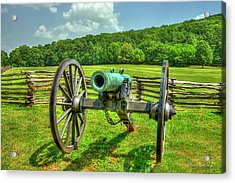 The Cannon Civil War Confederate States Art Acrylic Print