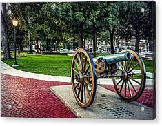 Acrylic Print featuring the photograph The Cannon In The Park by Kendall McKernon