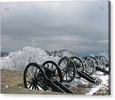 The Cannons At Shipka Acrylic Print by Iglika Milcheva-Godfrey