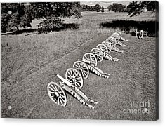 The Cannons Of Valley Forge Acrylic Print by Olivier Le Queinec