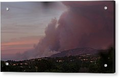 The Canyon Fire Acrylic Print by Angela A Stanton