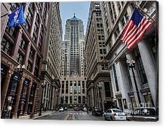 The Canyon In The Financial District Acrylic Print
