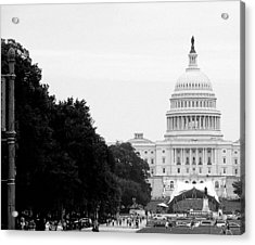 Acrylic Print featuring the photograph The Capital Building by Laura DAddona