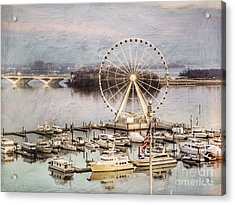 The Capital Wheel At National Harbor Acrylic Print