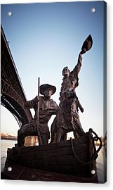 Acrylic Print featuring the photograph The Captain Returns by David Coblitz