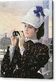 The Captain's Daughter Acrylic Print by Tissot