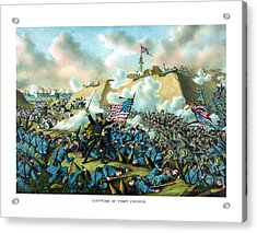 The Capture Of Fort Fisher Acrylic Print by War Is Hell Store