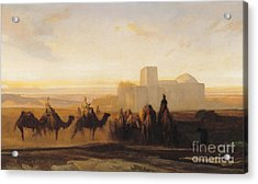 The Caravan Acrylic Print by Alexandre Gabriel Decamps