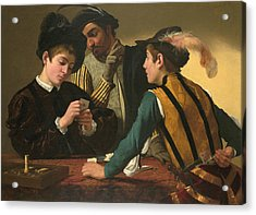 The Cardsharps  Acrylic Print by Caravaggio