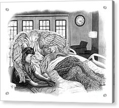 The Caregiver Acrylic Print by Peter Piatt