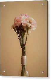 Acrylic Print featuring the digital art The Carnations by Ernie Echols