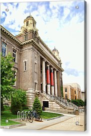 The Carnegie Library Acrylic Print by Debra Millet