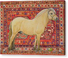 The Carpet Horse Acrylic Print by Ditz