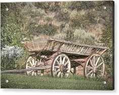 The Cart Before The Horse Acrylic Print by Donna Kennedy