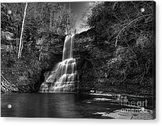 The Cascades Acrylic Print by Pete Hellmann
