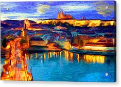 The Castle And The River Acrylic Print